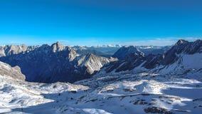 Exotisch het Landschapslandschap van de de Wintersneeuw stock foto's