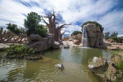Exotisch landschap in een natuurreservaat spanje Royalty-vrije Stock Afbeelding