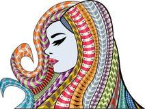 Exotisch Meisje vector illustratie
