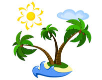 Exotisch palmeiland Royalty-vrije Stock Foto's