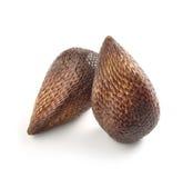 Exotisch Salak-Palmfruit op Witte Achtergrond Stock Foto's