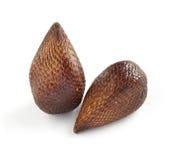 Exotisch Salak-Palmfruit op Witte Achtergrond Stock Afbeelding