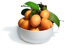 Exotisch Thais Fruit. Maprang, Marian pruim Stock Afbeelding