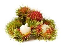 Exotisch Thais fruit Rambutan of NGO Royalty-vrije Stock Foto