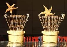 Exotisch voedsel op een stok royalty-vrije stock fotografie