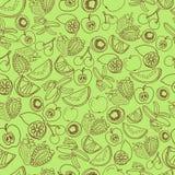 Exotisch vruchten patroon Royalty-vrije Stock Afbeeldingen