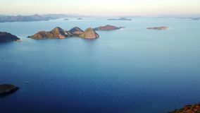 Exotische Ansicht von Flores-Inselarchipel stock video