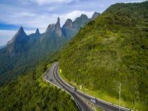 Exotische bergen Prachtige bergen Bergvinger van God, de stad van Teresopolis, Staat van Rio de Janeiro, Brazili? stock afbeelding