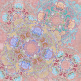 Exotische bloemenachtergrond Stock Afbeelding