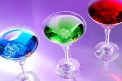 Exotische cocktails stock afbeeldingen