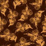 Exotische Dschungel-Betriebstropische Palmbl?tter des Drucksommers Muster, nahtloses Blumen auf dem schwarzen Hintergrund vektor abbildung