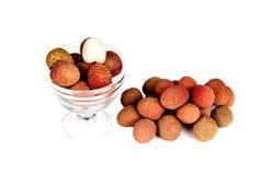 Exotische Fruchtlitschi Stockfoto