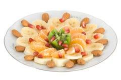 Exotische fruitsalade Stock Afbeelding