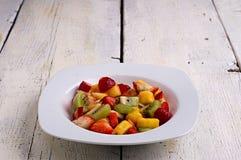 Exotische fruitschotel royalty-vrije stock foto's
