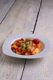 Exotische fruitschotel stock afbeelding