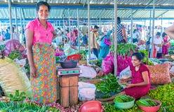 Exotische groenten in Wellawaya-markt Stock Foto