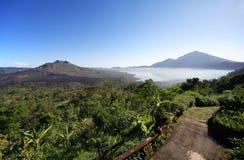 Exotische indonesische Landschaft stockbilder