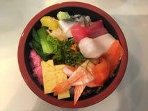 Exotische japanische Mahlzeit - Sashimi Lizenzfreies Stockbild