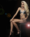 Exotische jonge blonde vrouw royalty-vrije stock afbeeldingen