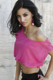 Exotische junge Frau lizenzfreies stockfoto