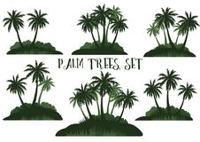 Exotische Landschaft mit Palmen Stockfotos