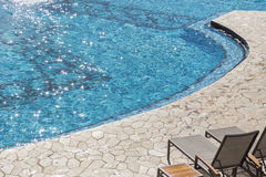 Exotische Luxusswimmingpool-Zusammenfassung Stockbilder