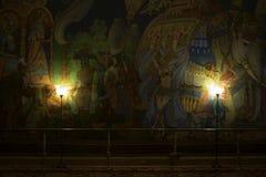 Exotische muurschildering Stock Foto's
