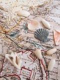 Exotische reizen naar vreedzaam oceaanconcept Stock Afbeelding