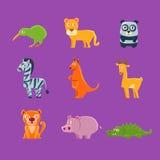 Exotische Tier-Fauna-Sammlung lizenzfreie abbildung