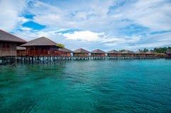 Exotische tropische toevlucht Royalty-vrije Stock Foto