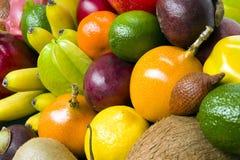Exotische tropische vruchten royalty-vrije stock foto's
