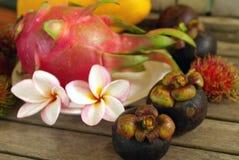Exotische tropische vruchten Stock Afbeeldingen