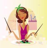 Exotische voedselâ Sushi vector illustratie