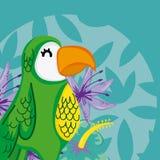 Exotische Vogelkarikatur lizenzfreie abbildung