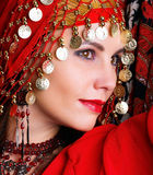 Exotische vrouw Stock Foto