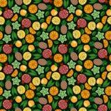 Exotische vruchten Achtergrond royalty-vrije illustratie