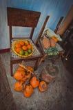 Exotische vruchten op de straat Royalty-vrije Stock Fotografie