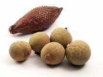 Exotische vruchten van Thailand Stock Afbeeldingen