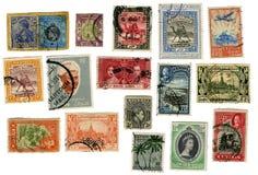 Exotische Zegels van rond de Wereld royalty-vrije stock foto