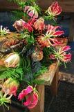 Exotischer Blumenstrauß Stockfoto