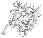 Exotischer Blumenvektor Stockfoto