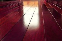 Exotischer hölzerner Fußboden Lizenzfreie Stockbilder