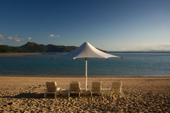 Exotischer Strandurlaubsort Stockbild