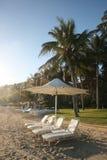 Exotischer Strandurlaubsort Lizenzfreies Stockfoto