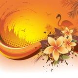 Exotischer tropischer Hintergrund Lizenzfreie Stockfotos