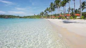 Exotischer tropischer Strand stock video