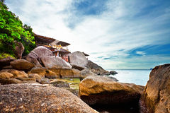 Exotischer tropischer Strand lizenzfreie stockfotografie