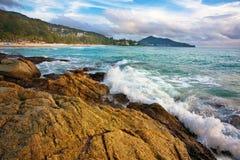 Exotischer tropischer Strand lizenzfreie stockfotos