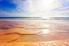 Exotischer tropischer Strand. stockfoto