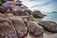 Exotischer tropischer Strand Stockfoto